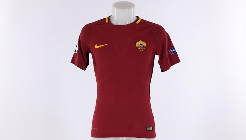 Florenzi's Worn Roma-Chelsea Shirt, CL 2017/18