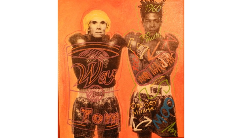 """Two Boxers"" by Steve Kaufman"