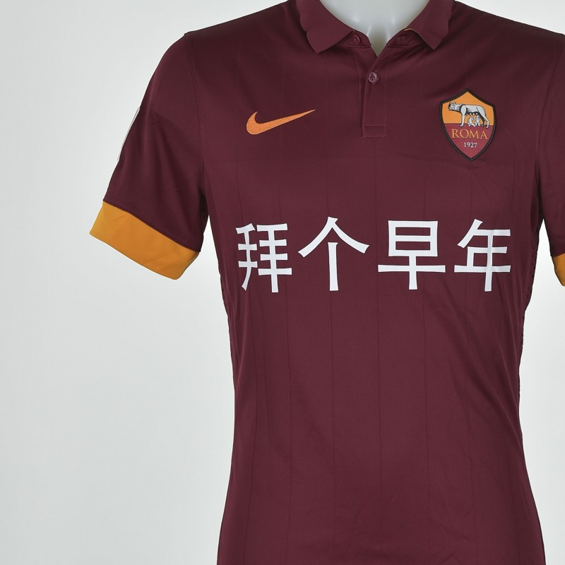 Florenzi matchworn shirt, chinese new years edition