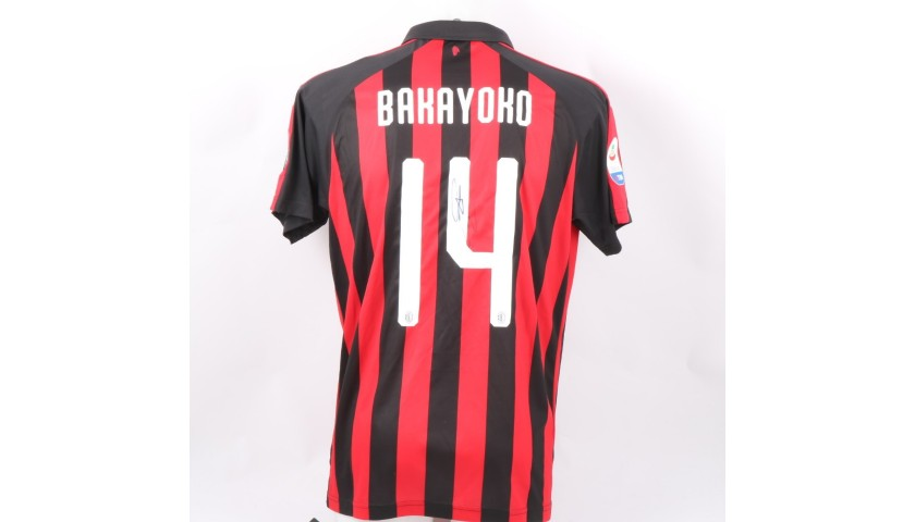 Bakayoko's Official Milan Shirt, 2018/19 - Signed