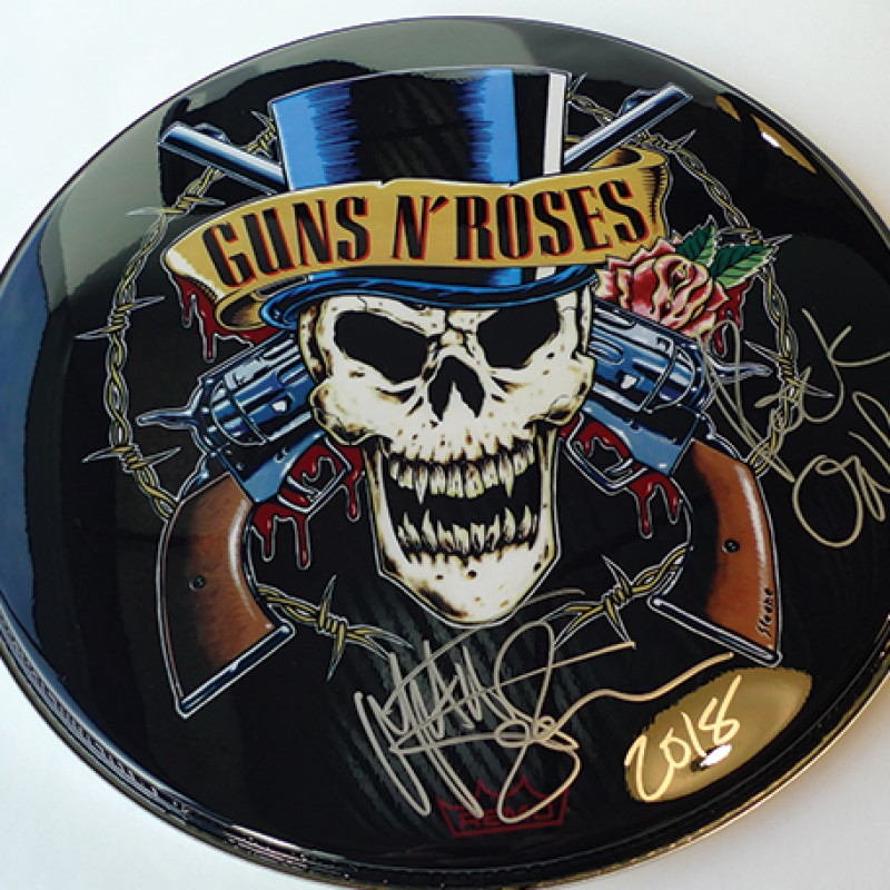 Guns N' Roses Drum Head Signed by Matt Sorum