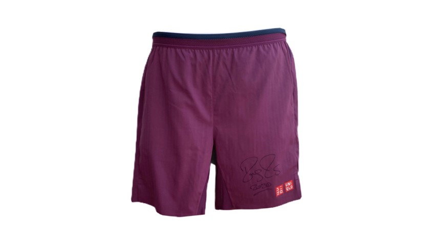 Federer Signed Match Shorts, Australian Open 2020