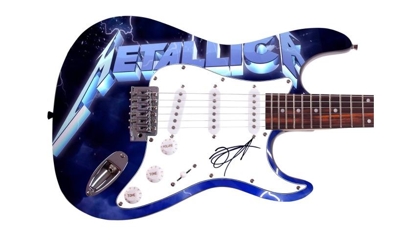 Metallica Custom Graphics Guitar Hand Signed by Kirk Hammett