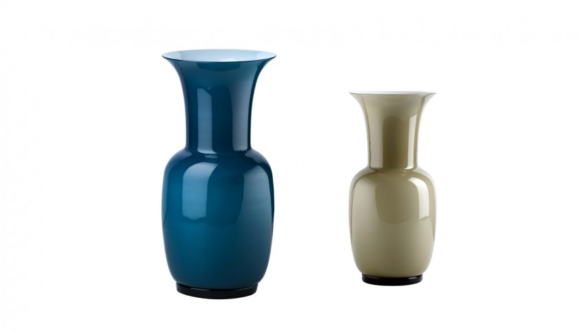 Venini Opalini Collection Vases