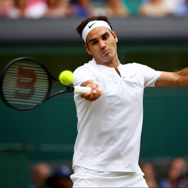 Federer's Match-Issued/Worn Signed Headband