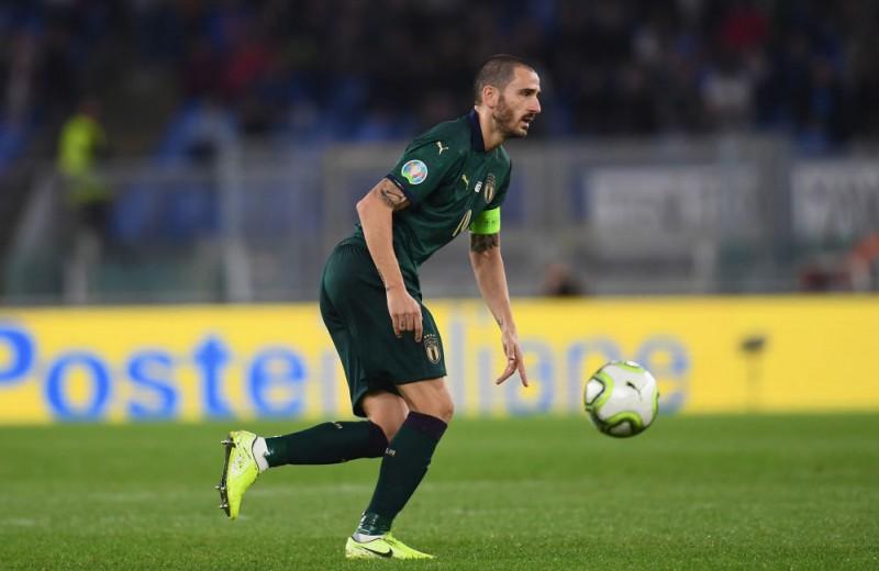 Leonardo Bonucci Italy Match Shorts, 2019