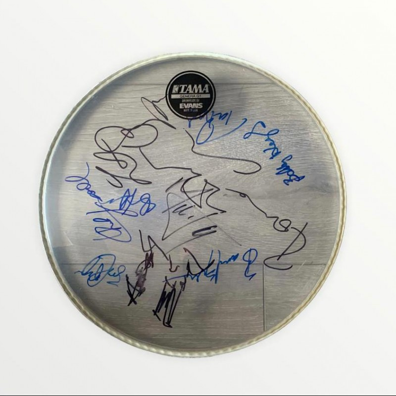 The Rolling Stones Band and Backin Band Signed Drumskin