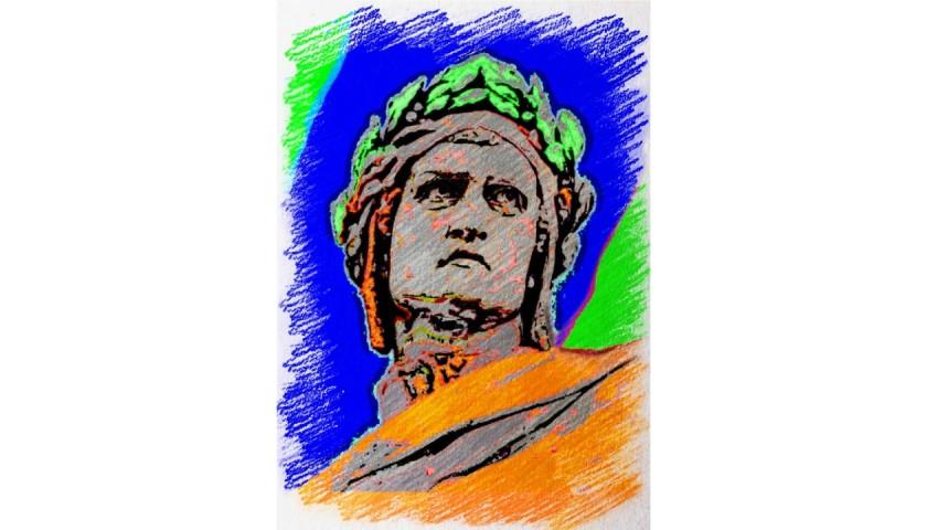 """""""Dante Alighieri"""" Original Board by Gabriele Salvatore"""