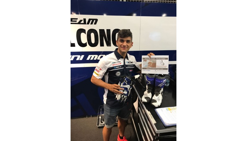 Jorge Martin Worn and Signed Gloves