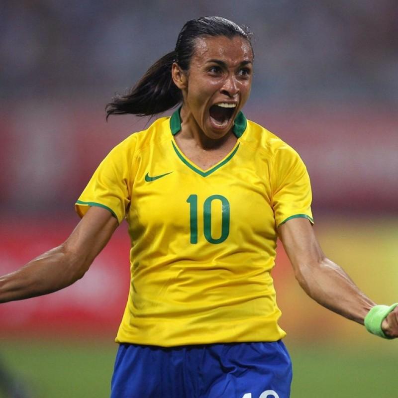 Marta's Brazil Match Shirt, Beijing 2008
