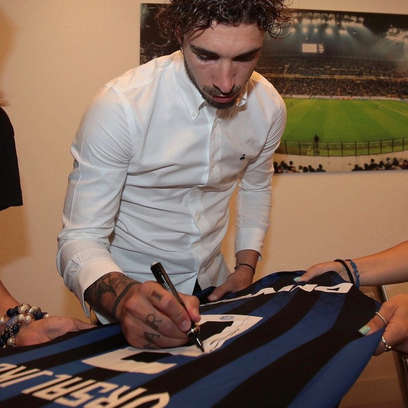 Inter Shirt Signed and Hand-Delivered by Sime Vrsaljko #2