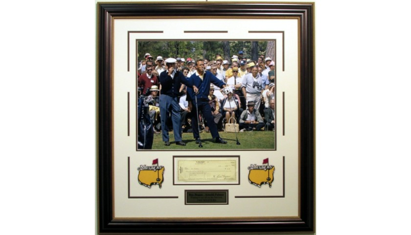 Ben Hogan 'Smoking at The Masters' Photo with Signed Check
