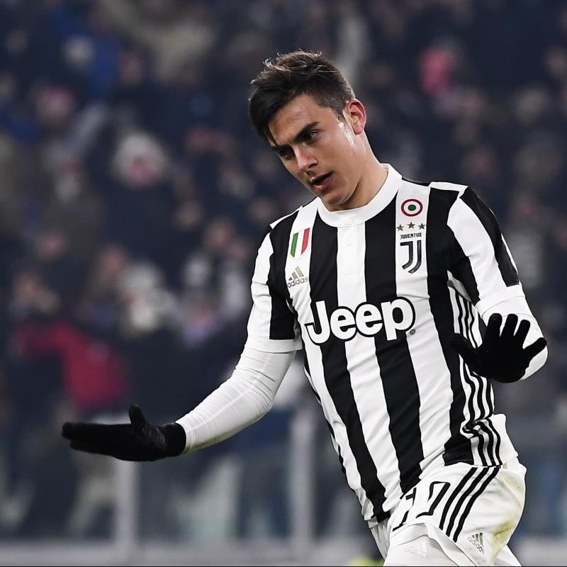 Dybala's Unwashed Match-Worn Juventus Shirt, 2017/18 Serie A