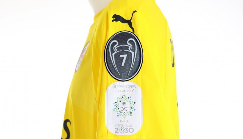 Donnarumma's Match-Issued Shirt, Juventus-Milan - Jeddah 2019