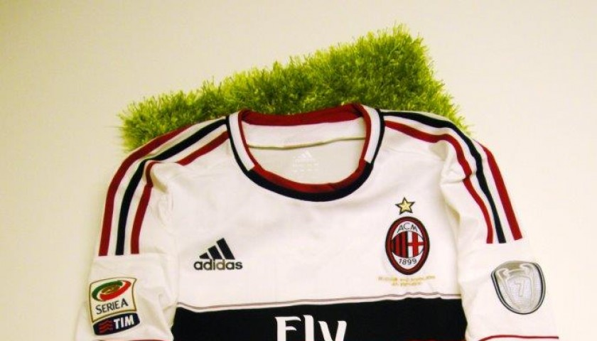 Milan Match Worn Issued Shirt By Mario Balotelli Serie A 2012 2013 Charitystars