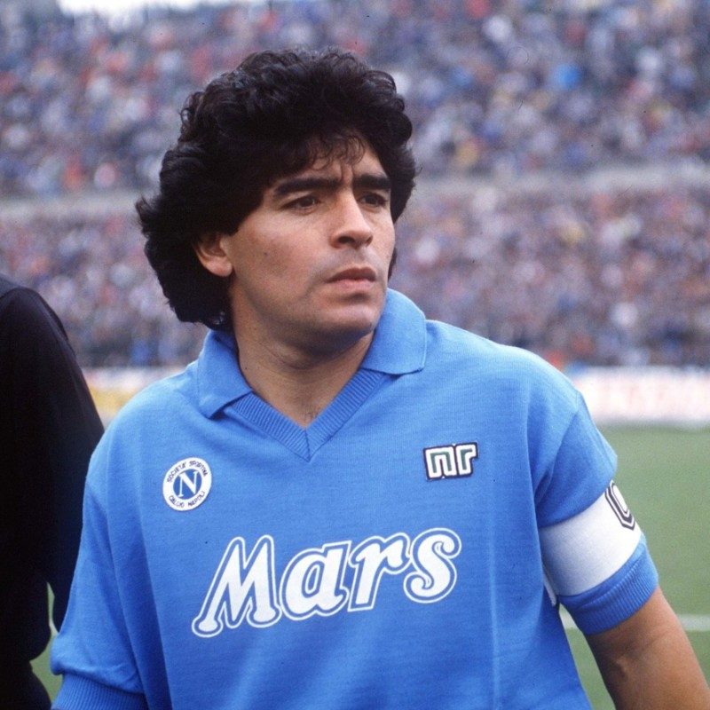 Maradona's Signed Match-Issued/Worn Napoli Shirt, 1988/89