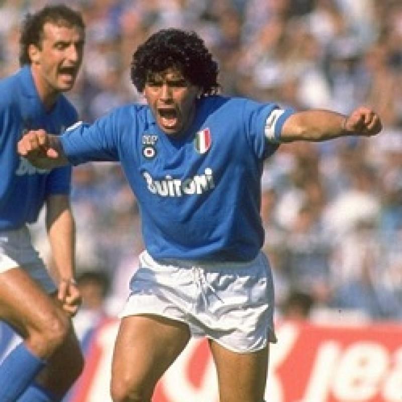 Maradona's Napoli Signed Match Shorts, 1987/88