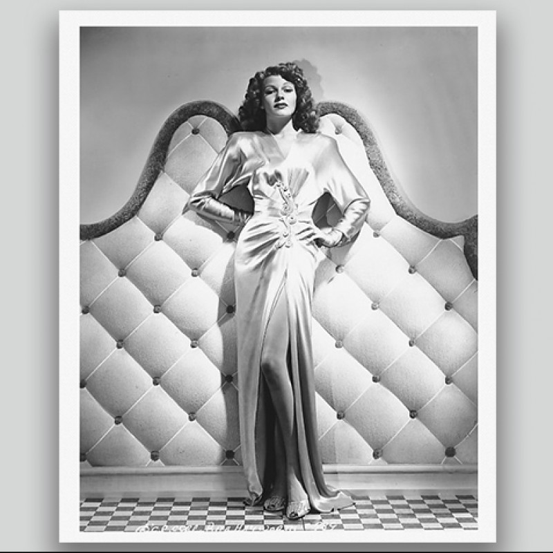 Rita Hayworth Studio Print and Negative by George Hurrell