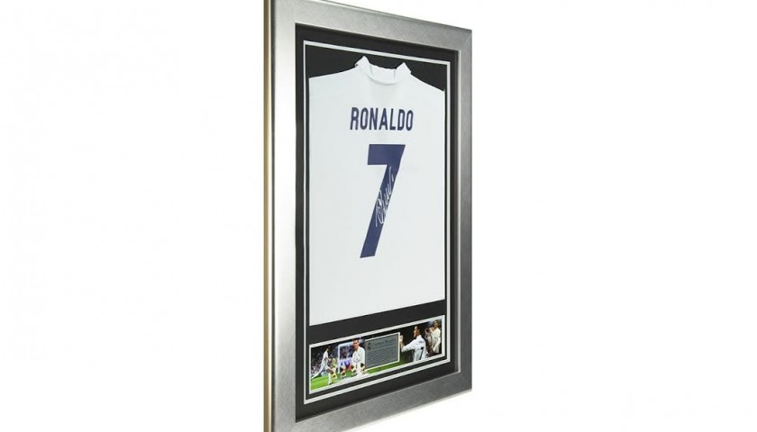 Cristiano Ronaldo's Home Shirt, Framed and Signed Real Madrid 2016/2017