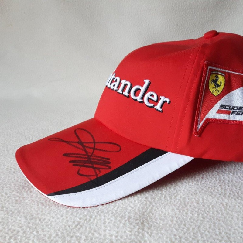 Official Team Ferrari Formula 1 Cap signed by the Sebastian Vettel in Monza 2015
