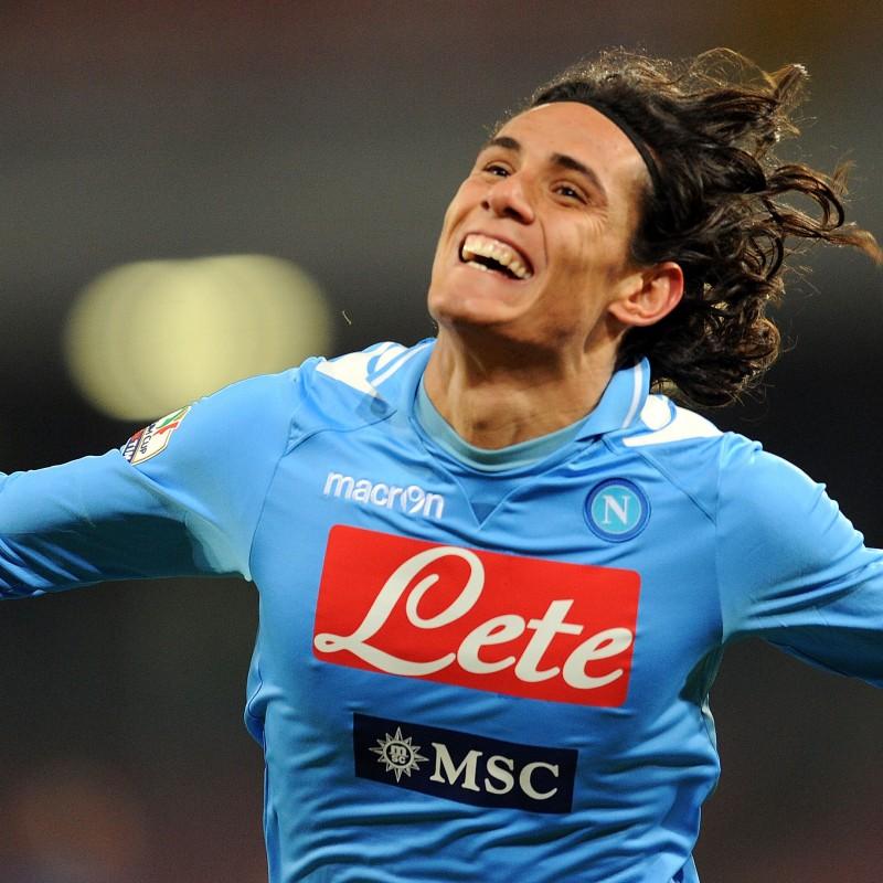 Cavani's Napoli Worn and Unwashed Signed Shirt, 2011/12 Season