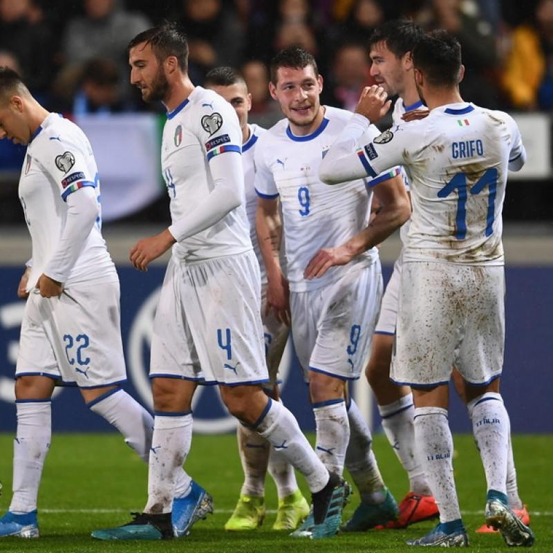Jorginho's Match Shirt, Liechtenstein-Italy 2019
