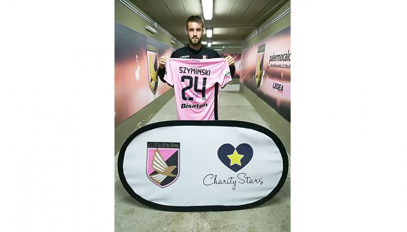 Szyminski's Signed Match-Worn 2017/18 Palermo-Ascoli Shirt