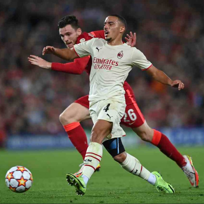 Bennacer's Worn and Signed Shirt, Liverpool-AC Milan 2021
