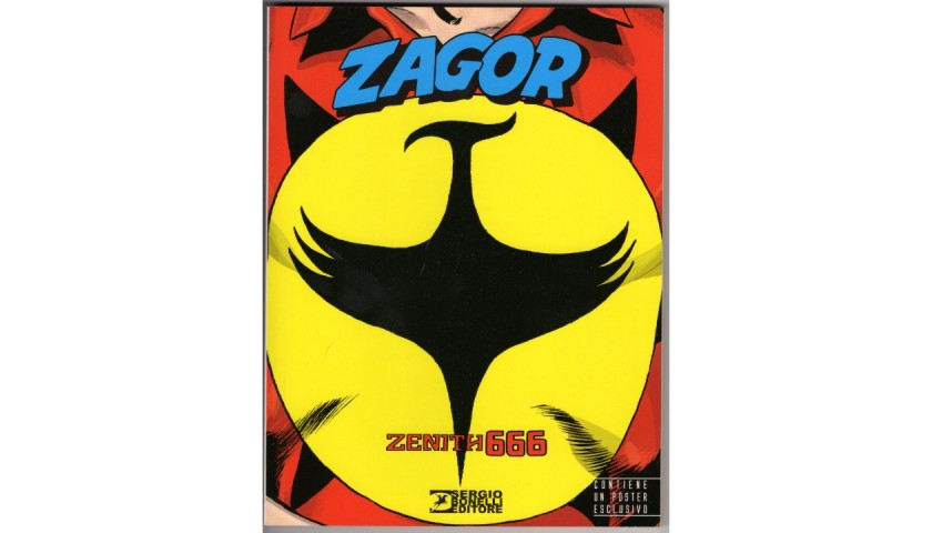 Zagor Zenith 666 Lucca Comics & Games 2016 Limited Edition Comic