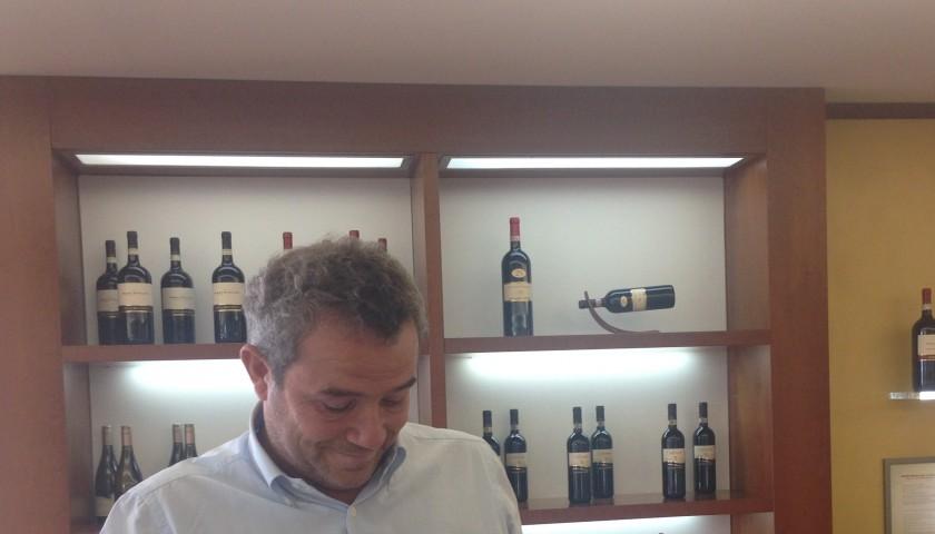Bottle of Montefalco Sagrantino DOCG Arnaldo Caprai 25 anni 1,5 L signed by Marco Caprai