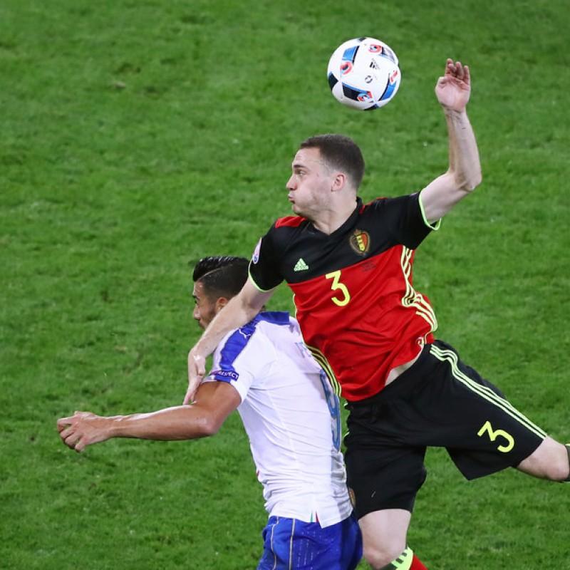 Vermaelen Belgium shirt, issued/worn Belgium-Italy 13/6/16