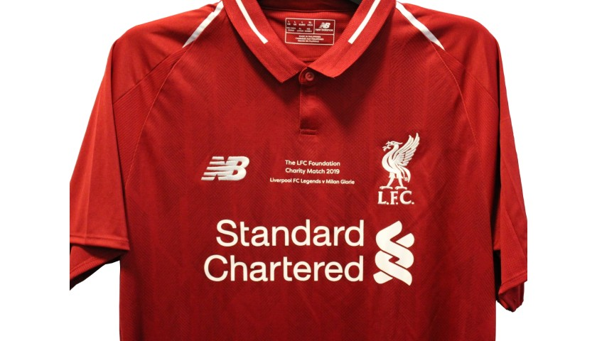 new product 6ea80 ef45a Gerrard's Liverpool Legends Game Worn and Signed Shirt - CharityStars