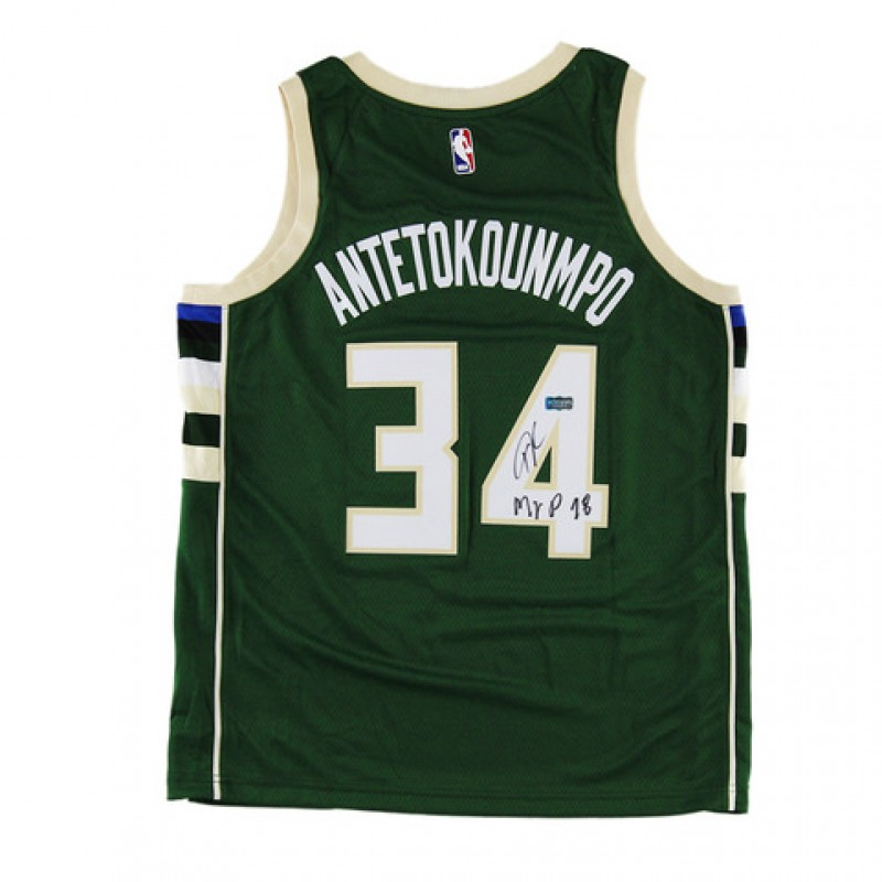 Giannis Antetokounmpo Hand Signed Milwaukee Bucks Jersey