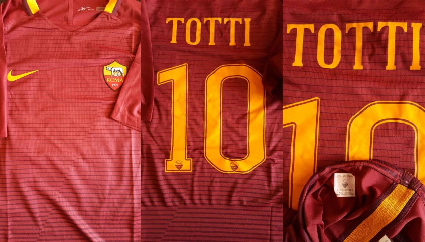 Francesco Totti's Match Worn Shirt, As Roma-Terek Grozny 3-2