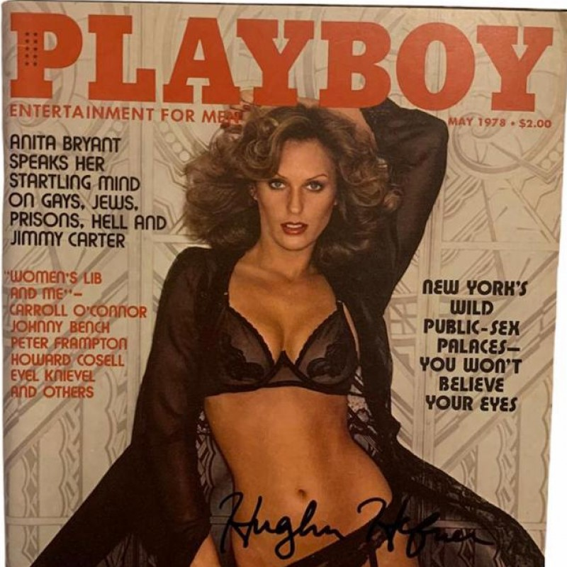 Hugh Hefner Signed May 1978 Playboy Magazine