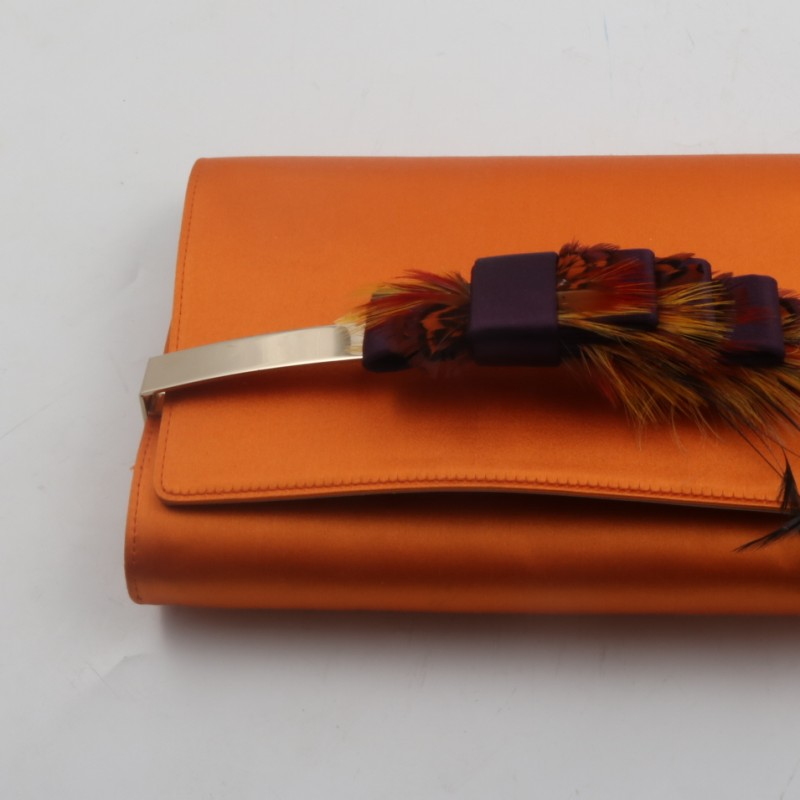 Jimmy Choo orange hand bag