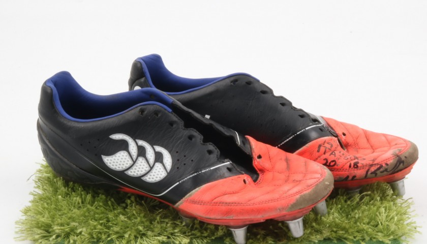 Signed and Worn George Biagi Match Boots