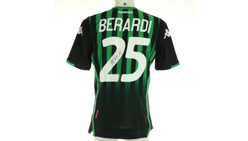 Berardi's Official Sassuolo Signed Shirt, 2018/19