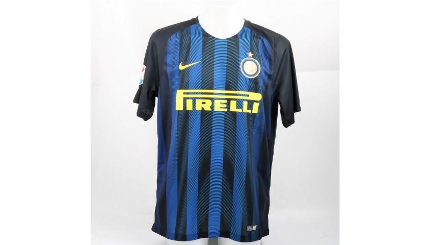 big sale e453e 96c9a Zanetti's Official Signed Inter Shirt, 2016/17 - CharityStars
