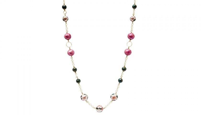 Primavera Necklace by Le Perle di Caltagirone