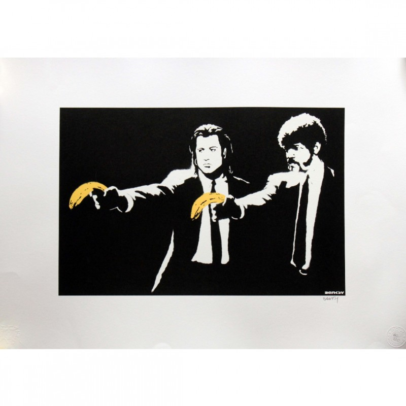 """""""Banksy's Pulp Fiction"""" - Offset POW Lithograph by Banksy"""