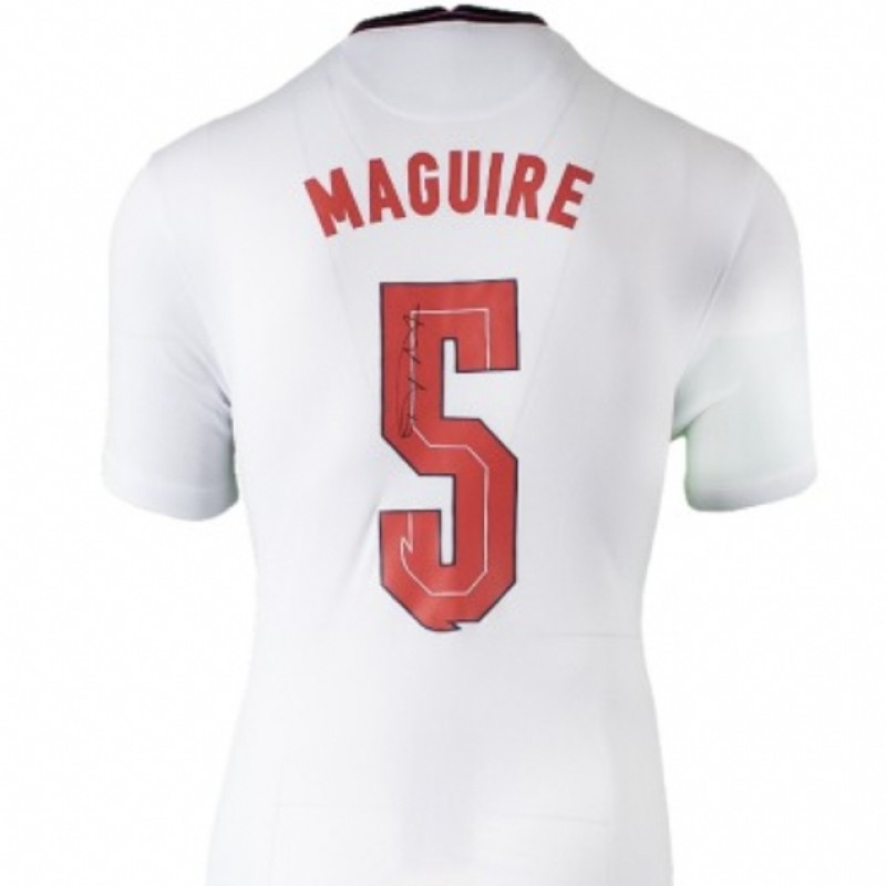 Maguire's England Signed Shirt, 2020-21