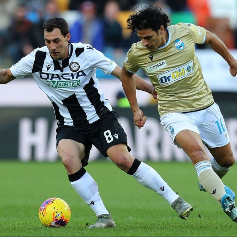 Jajalo's Special Worn Shirt, Udinese Calcio -SPAL