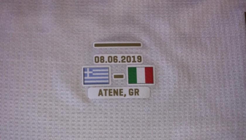 Bernardeschi's Match Shirt, Greece-Italy 2019