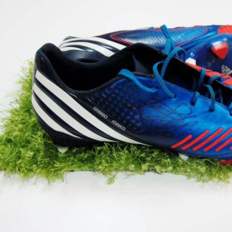 De Silvestri match worn shoes, Sampdoria, Serie A 2014/2015 - signed