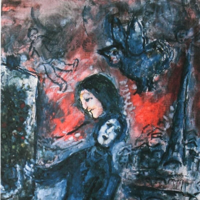 """""""Donne che pitturano"""" - Stampa Litografica Offset di Marc Chagall"""