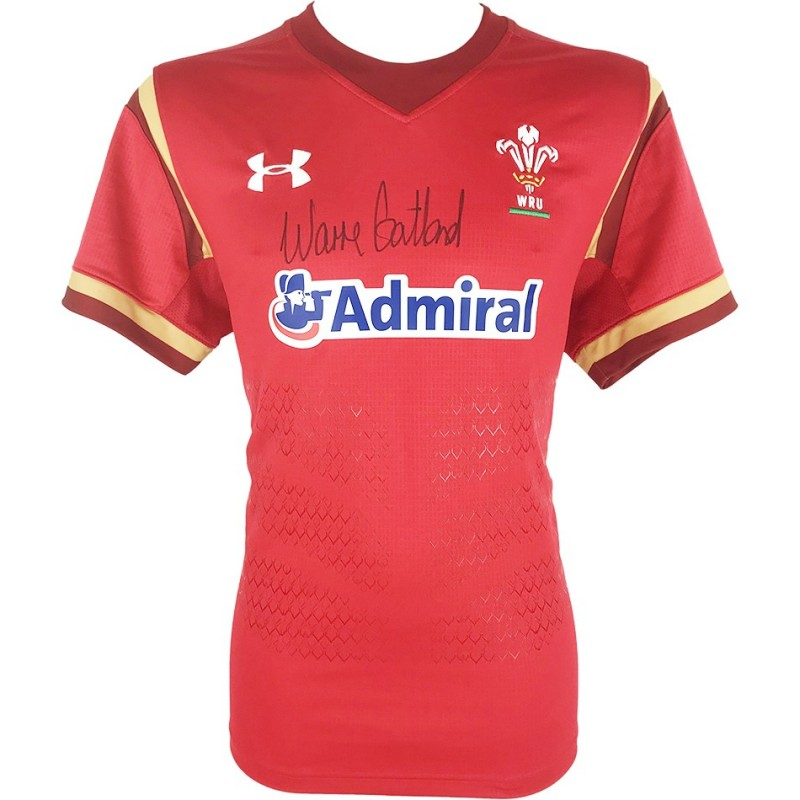Warren Gatland Wales Rugby Signed Shirt