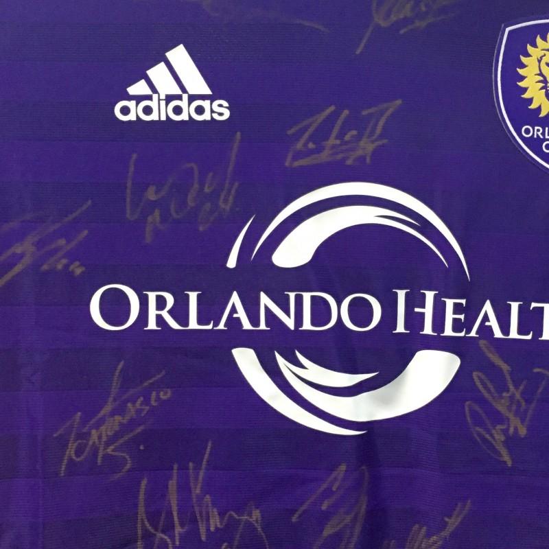 Orlando City shirt signed by Kaka and full squad
