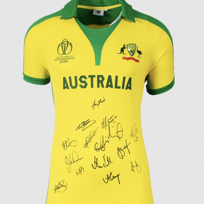 Australia Squad Signed 2019 ICC World Cup Shirt