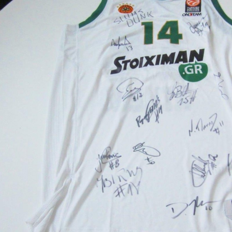 Gist Panathinaikos shirt, Panathinaikos, signed by the team